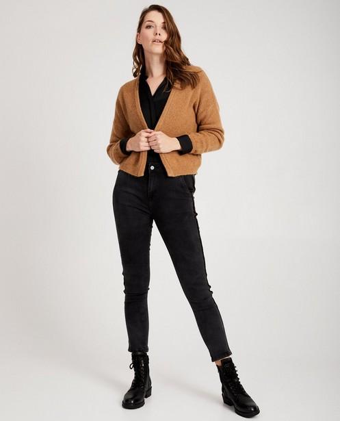 Pull brun clair Ella Italia - doux tricot - ella