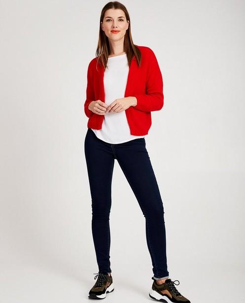 Cardigan rouge Ella Italia - doux tricot - ella