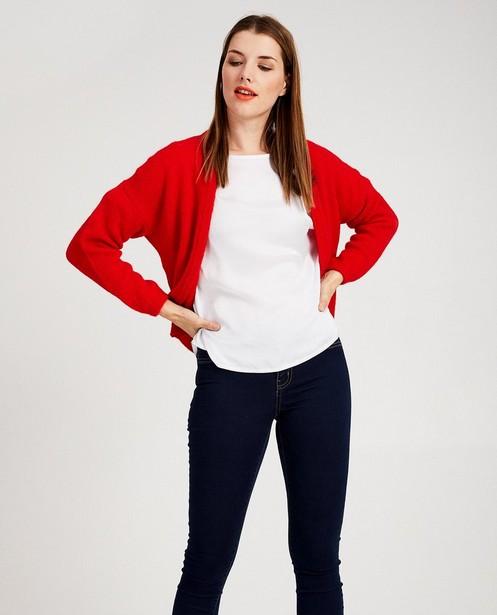 Cardigans - plum - Cardigan rouge Ella Italia