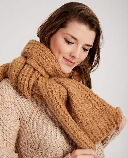 Lichtbruine sjaal Ella Italia