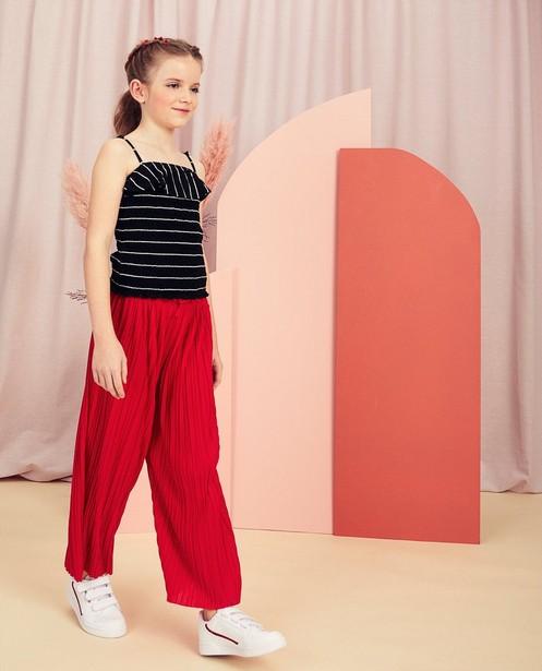 Pantalon plissé rouge Communion - jambes larges - Milla Star
