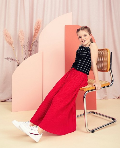 Pantalons - Pantalon plissé rouge Communion
