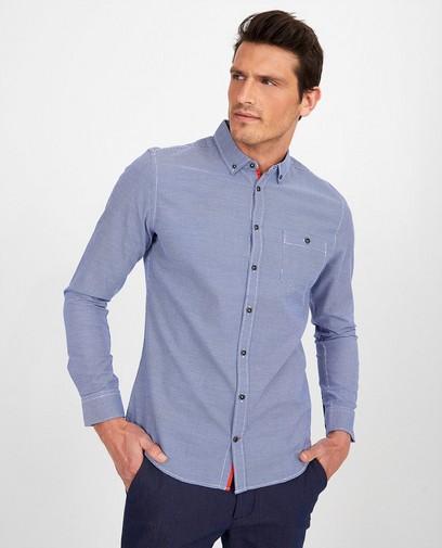 Hemd in blauw en wit