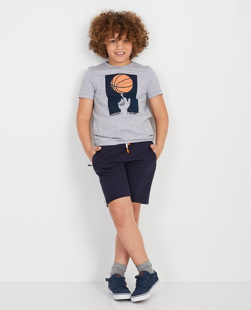 Grijs T-shirt basketbal - null - Fish & Chips