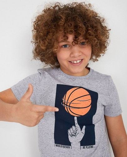 Grijs T-shirt basketbal