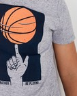T-shirts - Grijs T-shirt basketbal