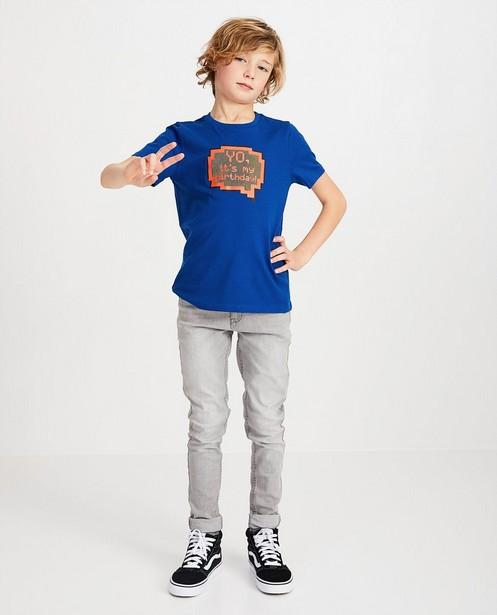 T-shirt bleu d'anniversaire - et inscription - Fish & Chips