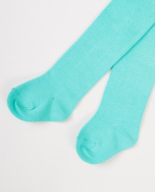 Collant bleu vert - motif rayé - JBC
