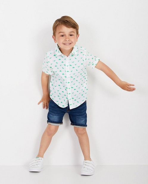 Wit hemd met print BESTies - null - Besties
