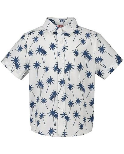 Blauw hemd met print BESTies