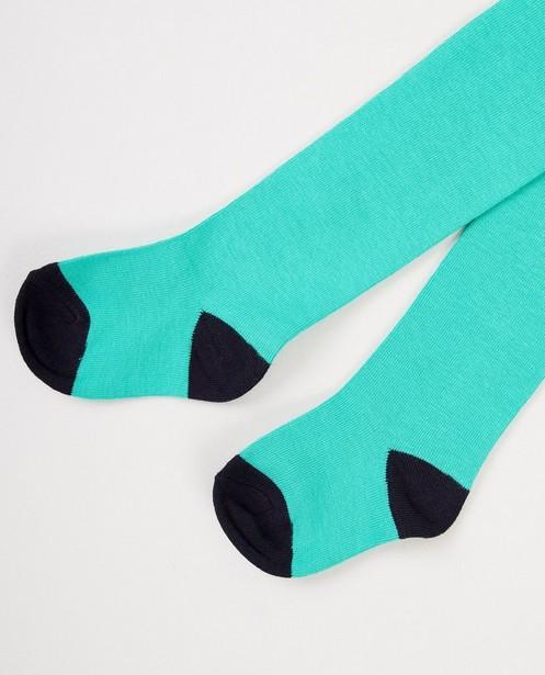 Groene kousenbroek - met donkerblauw - JBC
