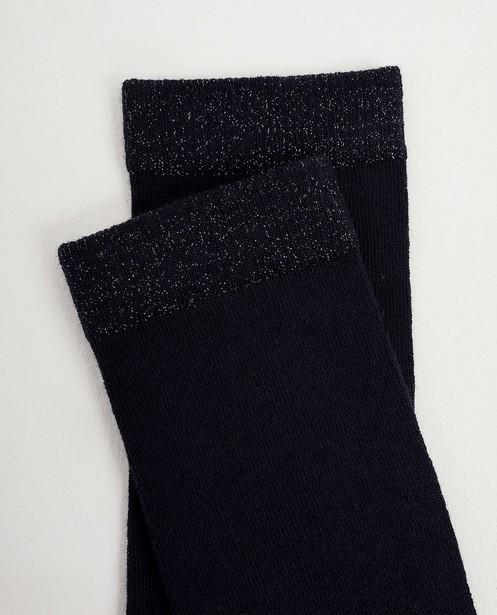 Chaussettes - Mi-bas bleus, fil métallisé