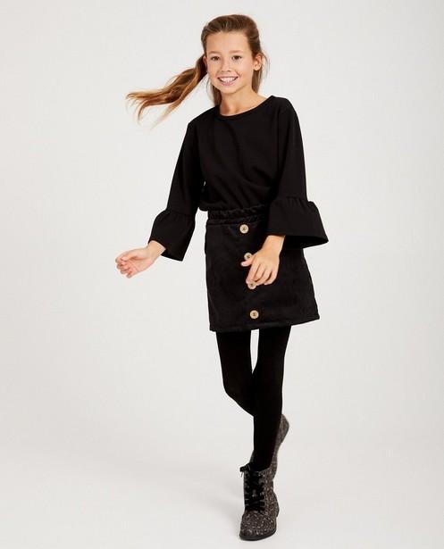 Zwarte blouse Ella Italia - met trompetmouwen - ella