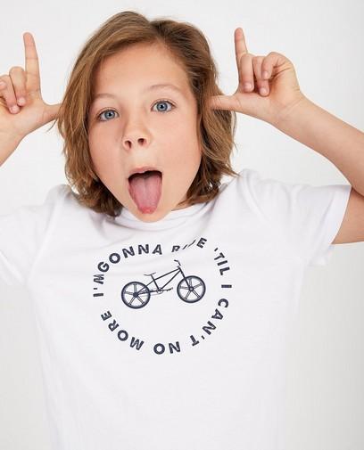 T-shirt blanc, imprimé BESTies