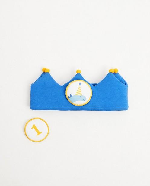 Strickware - Blaue Geburtstagskrone, 1 Jahr