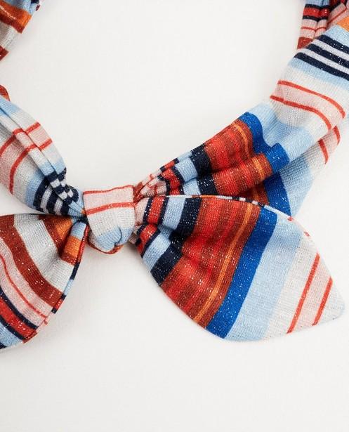 Bonneterie - Bandeau bleu et orange