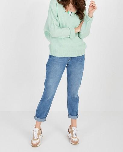 Blauwe mom-jeans Karen Damen