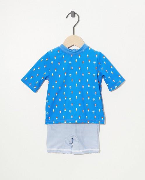 Maillot bleu, protection U.V. - imprimé intégral - Cuddles and Smiles