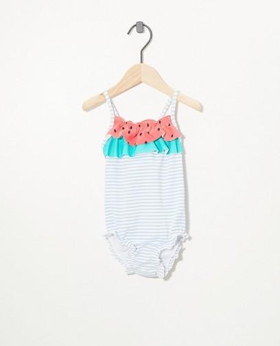 Gestreifter Badeanzug mit UV-Schutz