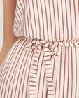 Kleedjes - Witte jurk met strepen Sora