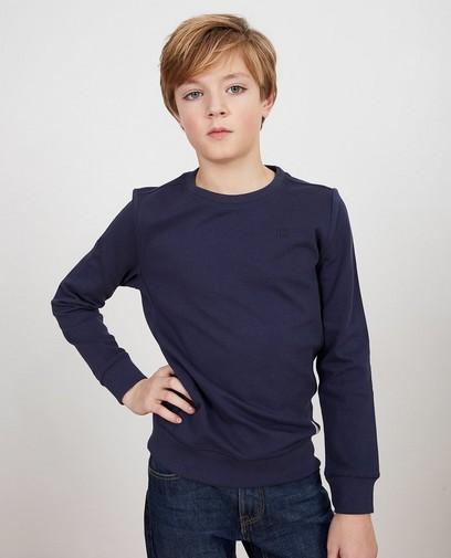 Blauer Sweater aus Biobaumwolle I AM, 7-14
