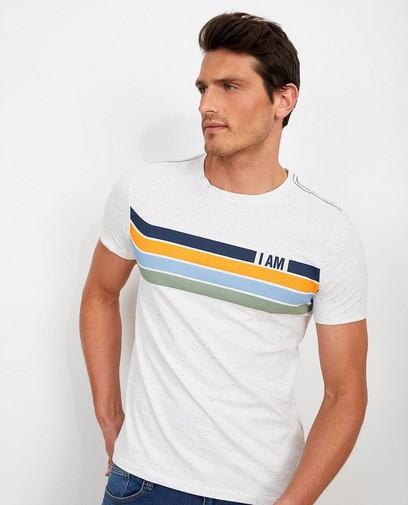 Wit T-shirt van biokatoen I AM