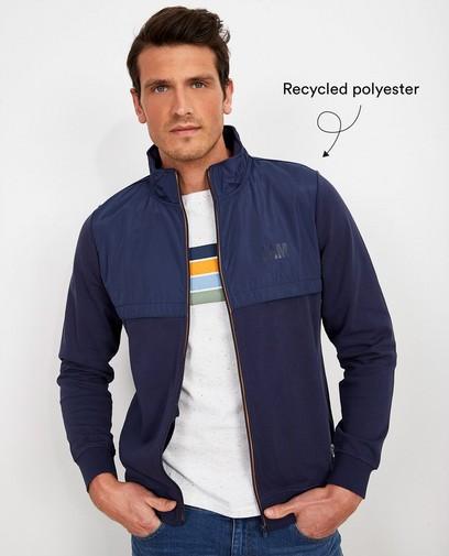 Blauw vest van biokatoen I AM