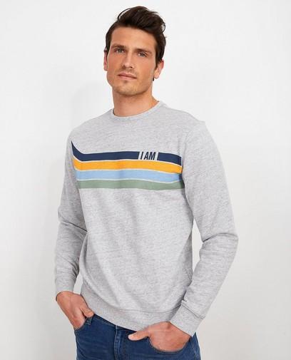 Grijze sweater van biokatoen I AM