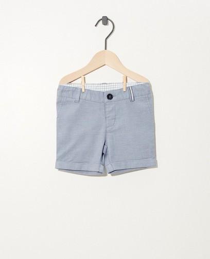 Blaue Shorts mit Mikroprint Fest