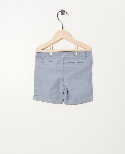 Shorts - Blauwe short met microprint Feest