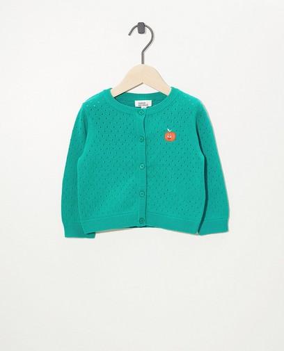 Cardigan vert en fin tricot