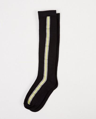 Zwarte kousen met streep