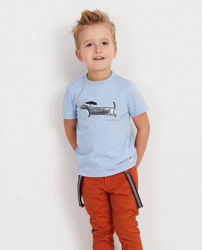 Blauw shirt met print Hampton Bays
