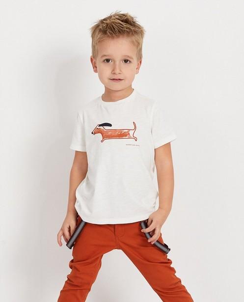 T-shirts - Wit T-shirt met print Hampton Bays