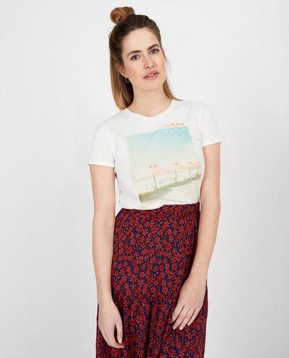 Wit T-shirt met print Sora