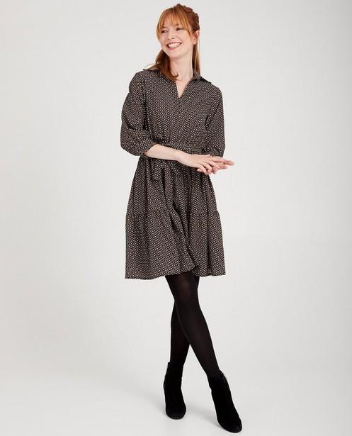 Robe noire Atelier BXL - imprimé intégral - abxl