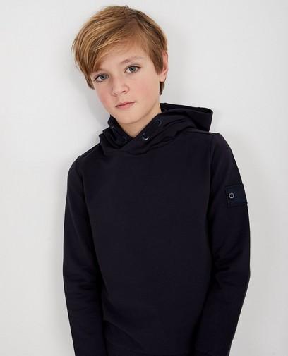 Donkerblauwe hoodie