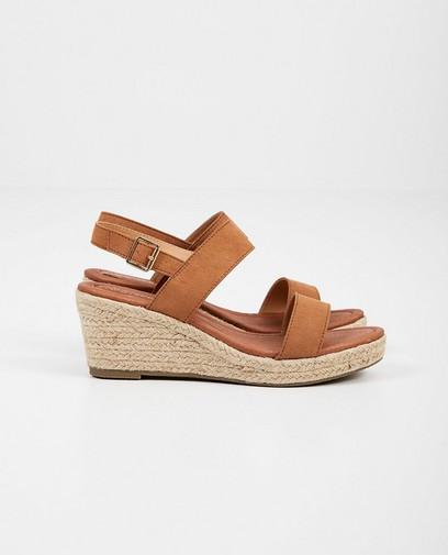 Bruine sandaal met sleehak