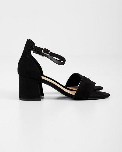 Zwarte sandaal van suède