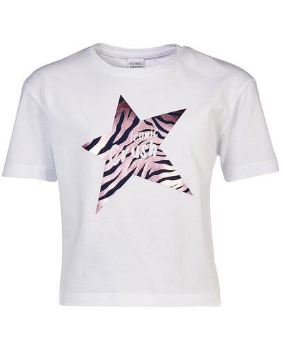 T-shirt blanc Iconic Crush Denim