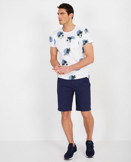 Wit T-shirt met print Noize - busje - Noize