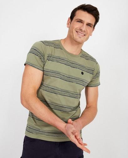 Groen T-shirt met strepen Noize