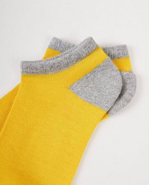 Chaussettes - Gele enkelkousjes