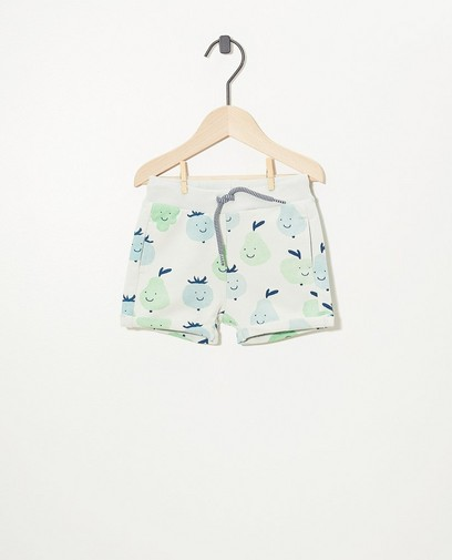 Hellgrüne Shorts aus Biobaumwolle