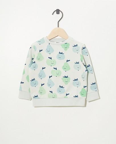 Lichtgroene sweater van biokatoen