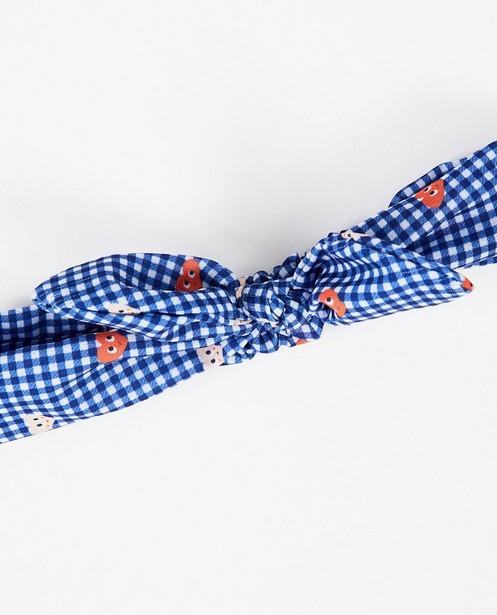 Bonneterie - Bandeau bleu à carreaux