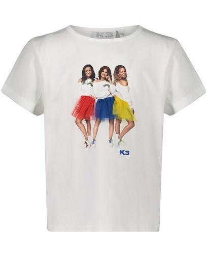 Wit T-shirt met fotoprint K3