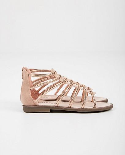 Roze sandalen in roman-style