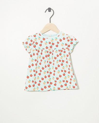 T-shirt vert pâle en coton bio
