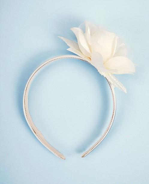Diadème avec fleur Communion - blanc - JBC